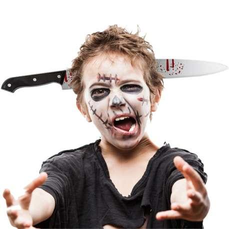 Déguisement serre-tête couteau illusion d'optique Halloween