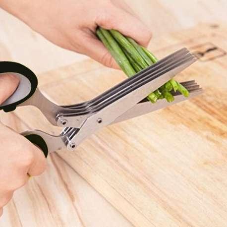 Ciseaux de cuisine à 5 lames Fines Herbes Aromatiques