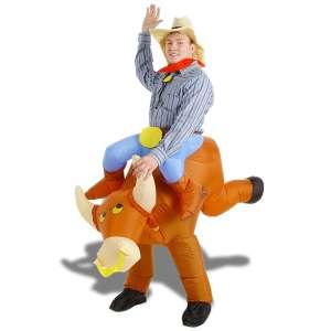 Costume toréro à dos de taureau gonflable déguisement rodéo