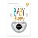 Sucette humoristique pour bébé dessin volume
