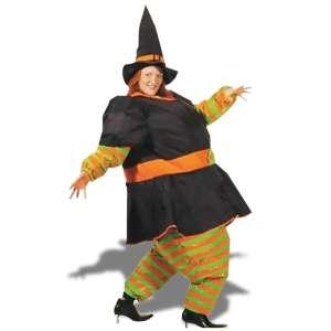 Costume de sorcière gonflable déguisement halloween avec chapeau