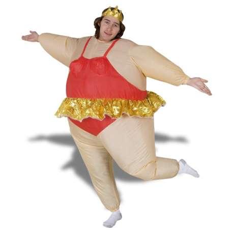 Costume danseuse ballerine gonflable costume avec couronne