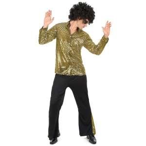 Costume pour homme style disco déguisement paillettes année 80