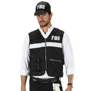 Costume agent du FBI déguisement avec casquette FBI