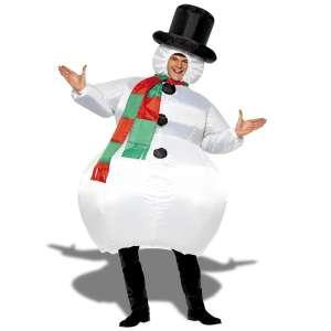 Costume bonhomme de neige gonflable costume avec chapeau