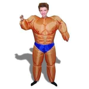 Déguisement bodybuilder gonflable costume homme musclé