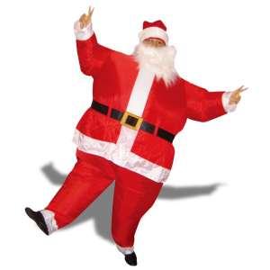 Costume gonflable de Père-Noël Costume avec bonnet rouge