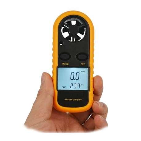 Anémomètre thérmomètre portatif vitesse du vent température