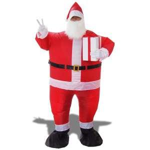 Costume père noel gonflable avec cadeau déguisement