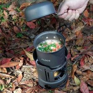 Réchaud avec 2 casseroles pour aventures en pleine nature