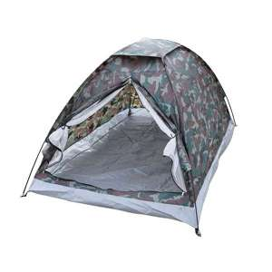 Tente en polyester motif camouflage 2 places