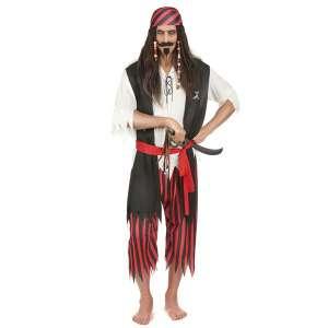 Costume de pirate pour homme déguisement des Caraïbes