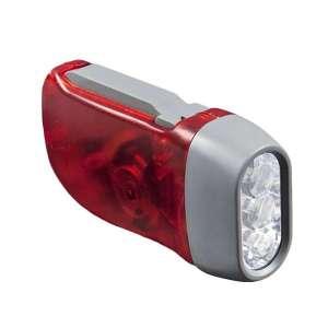 Lampe torche de poche rechargeable système dynamo à 3 LED