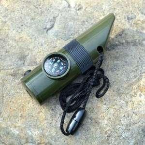 Sifflet multi fonction - sifflet, boussole, lampe, thermomètre