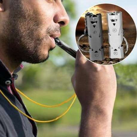 Sifflet de Secours en acier inoxydable 150 Décibels