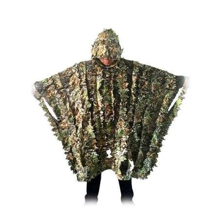 Poncho camouflage imitation feuilles mortes
