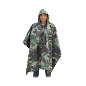 Poncho en polyester imperméable camouflage