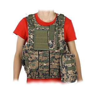 Veste tactique multipoches camouflage gilet