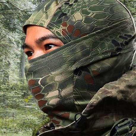 Cagoule camouflage en coton