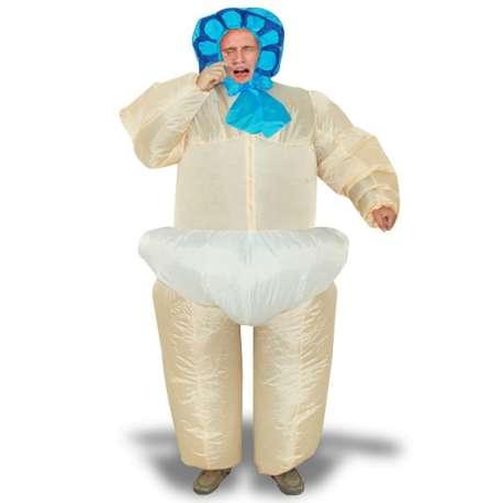 Costume gonflable bébé dans sa couche culotte