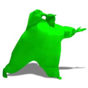 Déguisement homme vert gonflable costume intégral
