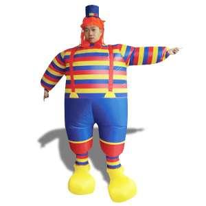 Costume clown gonflabe déguisement avec chapeau