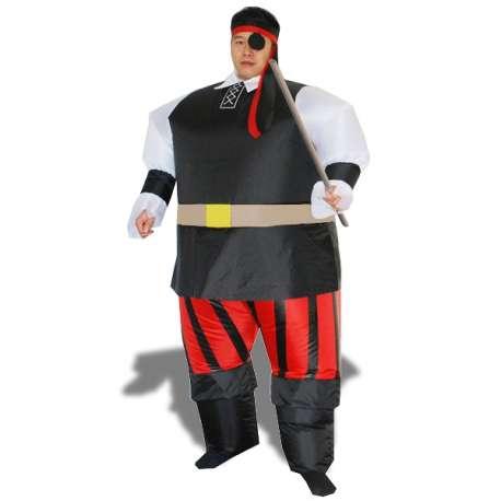 Déguisement pirate gonflable costume avec bandana cache-oeil