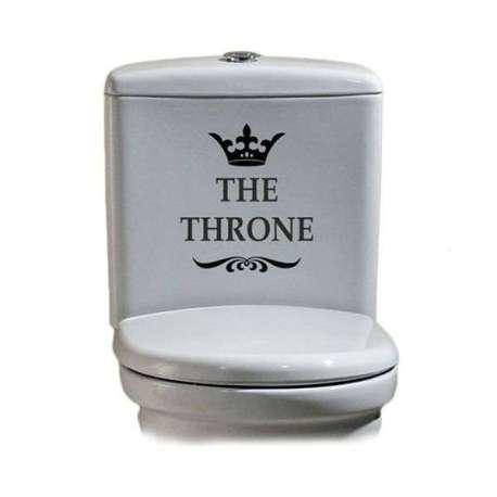 Sticker pour toilettes en vinyle autocollant The Throne