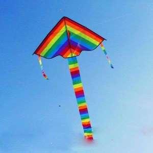 Cerf-volant en nylon couleur arc-en-ciel