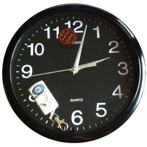 Horloge noire camera espion espionne 4 Go télécommandée