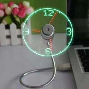 Ventilateur avec horloge virtuelle Led USB