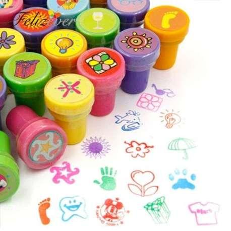 Tampons colorés avec encrier intégré 36 images