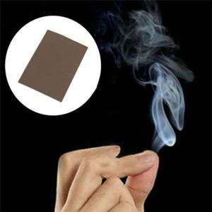 Bout de papier à fumée magique