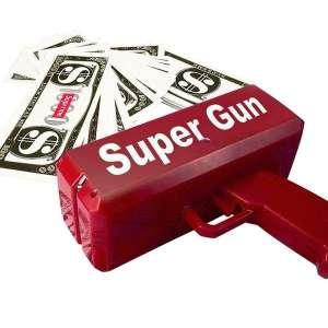 Pistolet lanceur de billets factices