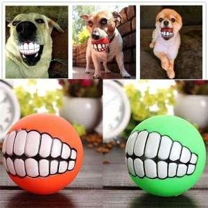 Jouet Balle avec motif dents pour Chien jeu pour animal
