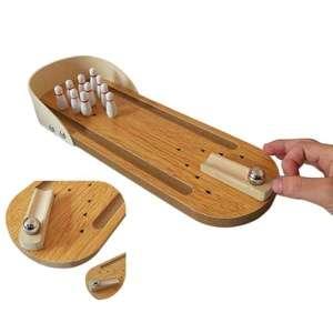 Bowling miniature en bois table miniature