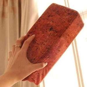Coussin en forme de brique rouge Oreiller Brique 25 cm Rouge