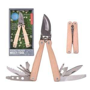 Sécateur pliable à 12 outils avec pochette de rangement multi outils