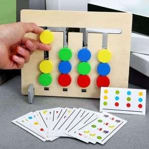 Jeu de reproduction et correspondance double face jeu Montessori