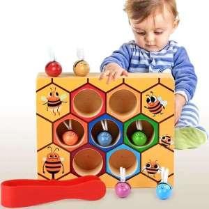 Ruche d'abeilles à associer pince classement couleurs jeu montessori