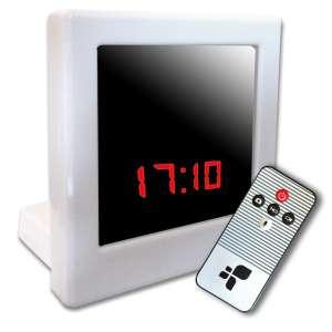Réveil camera espion blanc avec télécommande détection mouvement