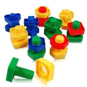 Vis et écrous colorés manipulation visser dévisser jeu Montessori