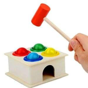 Jeu à marteau en bois pour apprentissage de couleurs jeu montessori