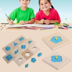 Puzzle formes géométriques à reconstituer jeu enfant montessori