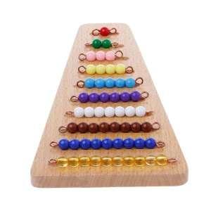 Escaliers de perles pour apprendre les mathématiques jeu Montessori
