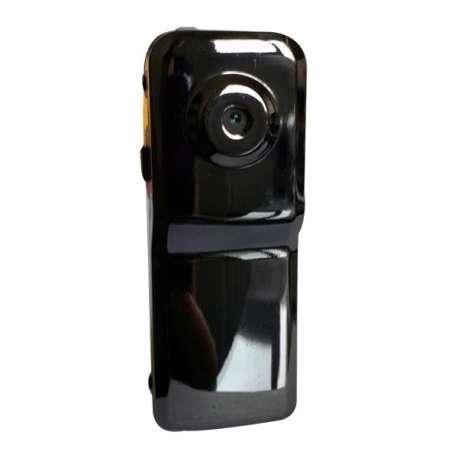 Mini caméra noire brillante à détection vocale