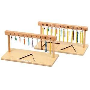 Perles Suspendues pour apprendre les mathématiques jeu Montessori