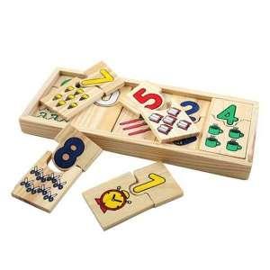 Puzzle fabriqué en bois chiffres à associer jeu Montessori
