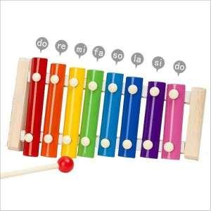 Xylophone arc en ciel en bois et en métal jeu Montessori