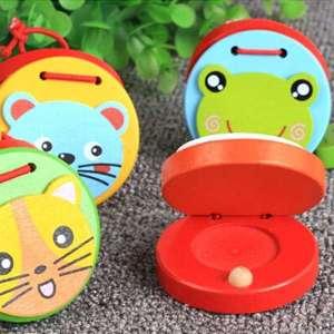 Castagnettes à mains motif animal jeu Montessori
